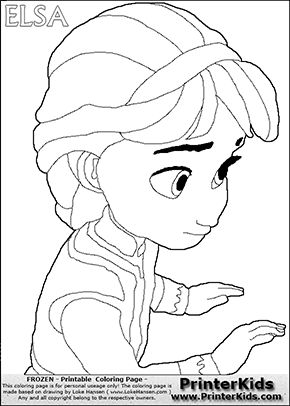 94 Young Anna And Elsa Coloring Page