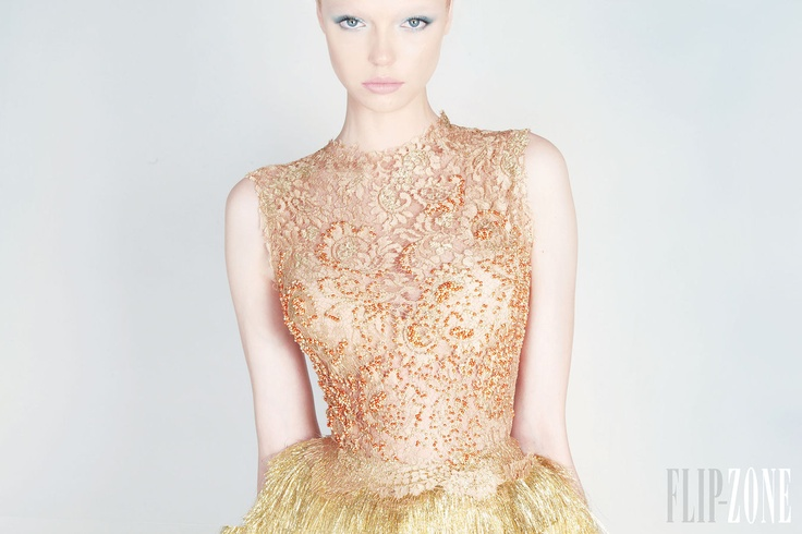 صيف2014فساتين سهرة باللون الفوشيا و الاسود,للمصمم جورج حبيقةعشقي الدائم في