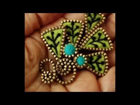 Create a Swirly Zipper Pendant - DIY Style - Guidecentral - YouTube