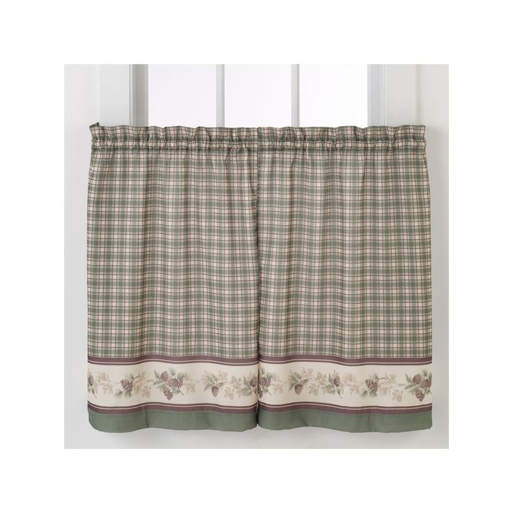 No918 Berkshire Tier Curtain Pair, Green