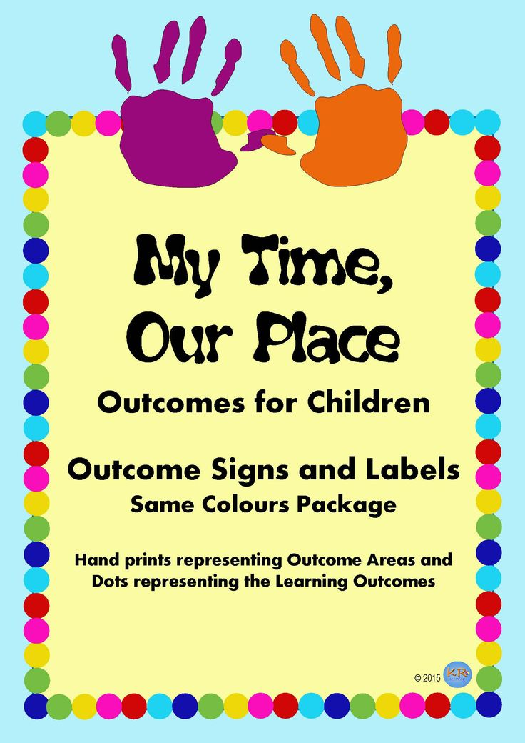 My Time, Our Place Signs for Outcomes for Children at OSHC, OOSH, School Aged Care- These signs are a great way of displaying how students are exploring the Outcomes! Great for the National Quality Standards and Quality Improvement Plan.