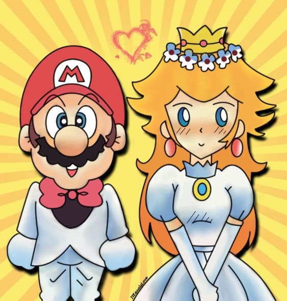 Mario and Princess Peach by ~ItEqualsLove on deviantART