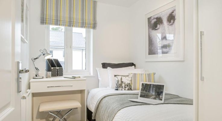 Dulux Zestaw Bedroom In A Box: Interior Designed Tiny Bedroom / Box Room / Teenager Study