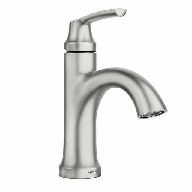 Moen Wellton One Handle Spot Resist Brushed Nickel Bathroom Faucet Brushed Nickel Bathroom Faucet Bathroom Faucets