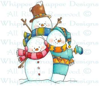 Snowman Gathering - Snowmen Images - Snowmen - Rubber Stamps - Shop