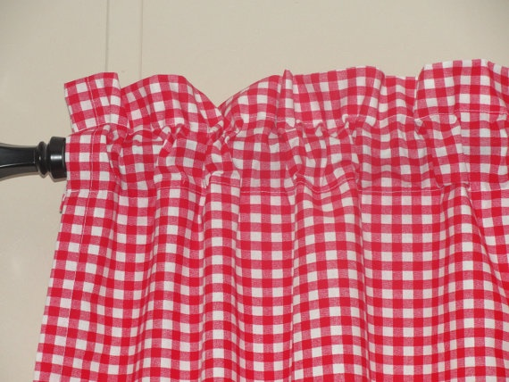 40 Red Gingham Cafe Curtains Kitchen Amp Dining Decor