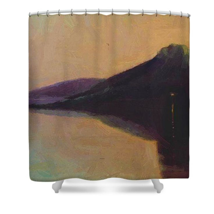 Serenity Shower Curtain featuring the painting Serenity 1904 by Ciurlionis Mikalojus