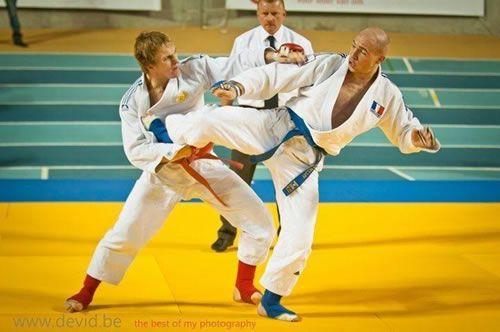 Le Jujitsu Fighting System est une forme de combat se déroulant en trois parties non hiérarchisées dans le temps : pied-poing, projection et soumission, pour gagner un combat il est nécessaire de marquer un ippon dans chacune des parties (full ippon). Chacune des parties doit être exécutée : ainsi il n'est pas possible de saisir directement pour projeter sans avoir préalablement échangé quelques atémis.C'est une discipline très complète alliant des techniques de Karaté,  Judo et Jujitsu au…