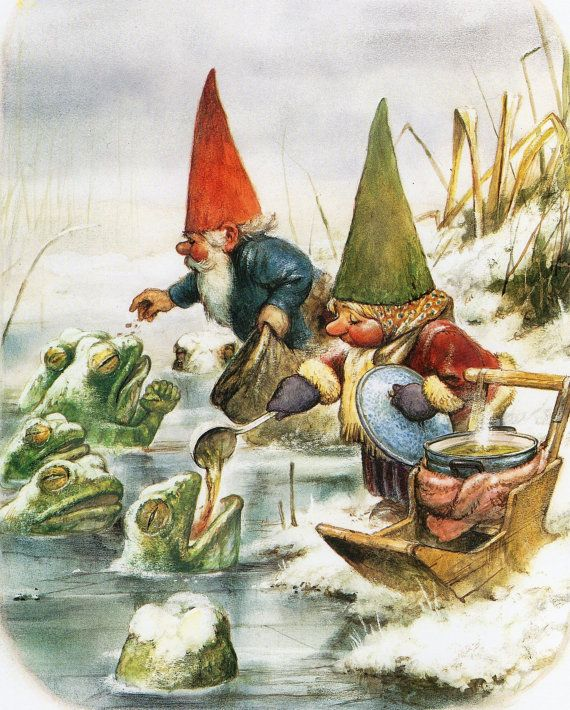 Rien Poortvliet ~ Always enjoyed reading the Gnome stories loaded with beautiful illustrations how the cared for nature's creatures.