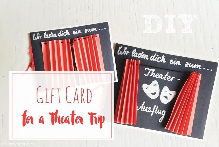 Süße Einladung/Gutschein für einen Ausflug ins Theater, in die Oper oder zu einem Konzert. Mit kompletter Anleitung!