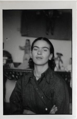 Portrait of Frida Kahlo found in Isamu Noguchi's archives, ca. 1930s. In all likelihood, this photo was taken by Noguchi during the time he was working on his commission at the Mercado Abelardo Rodrigues in Mexico City in 1936. The pair stayed in...