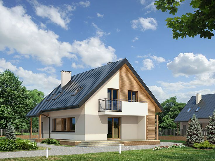 Projekt Jabłoń (132,3 m2) to projekt domu z  użytkowym poddaszem z garażem w bryle budynku. Pełna prezentacja projektu znajduje się na stronie: http://www.domywstylu.pl/projekt-domu-jablon.php. #jabłoń #domy #projekty #projekt #domywstylu #mtmstyl #home #style #design #architektura #interior #projektygotowe