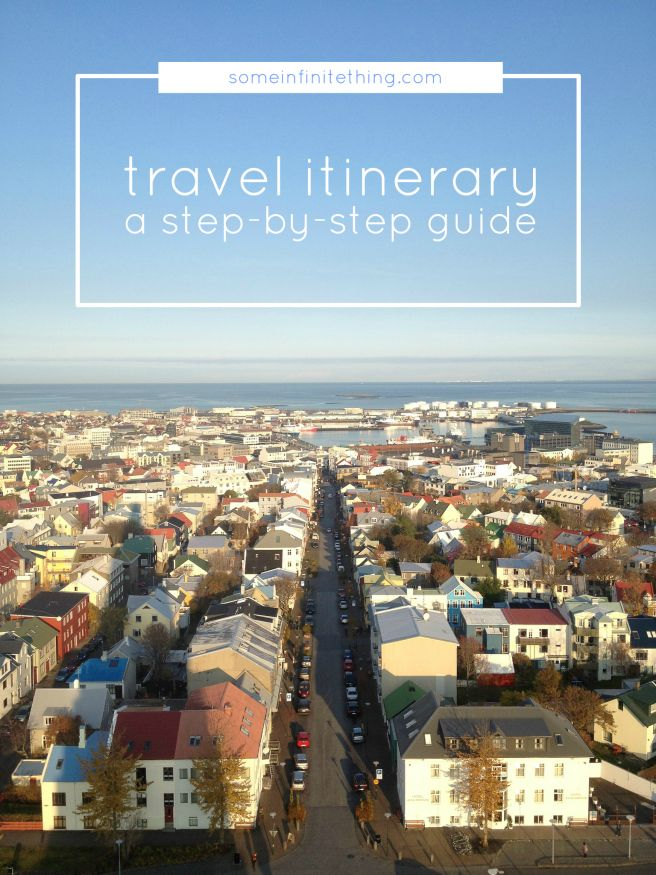 how to plan a travel itinerary