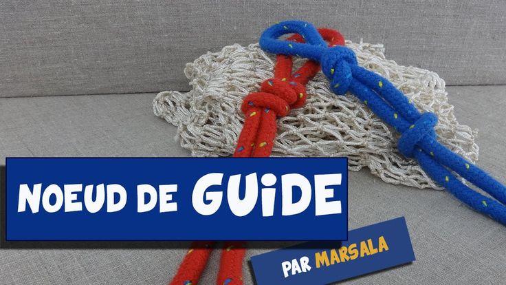 Noeud de guide ( oeil de pêcheur ) #noeud à boucle # noeud fantaisie #La...