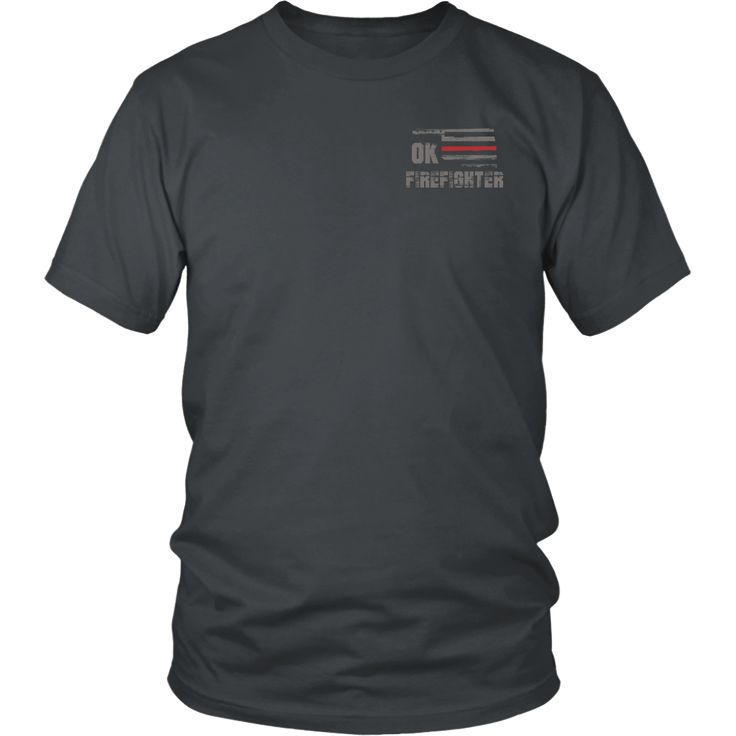Oklahoma Firefighter Thin Red Line Shirt