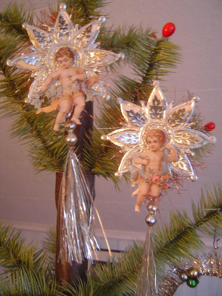 Handmade Victorian Cherub Angel Scrap Dresden Christmas Ornament. $29.95, via Etsy.