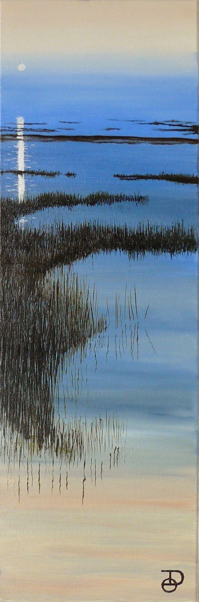 Baie ( St Brieuc ), peinture à l'huile 20X60 cm de Olivier Defay