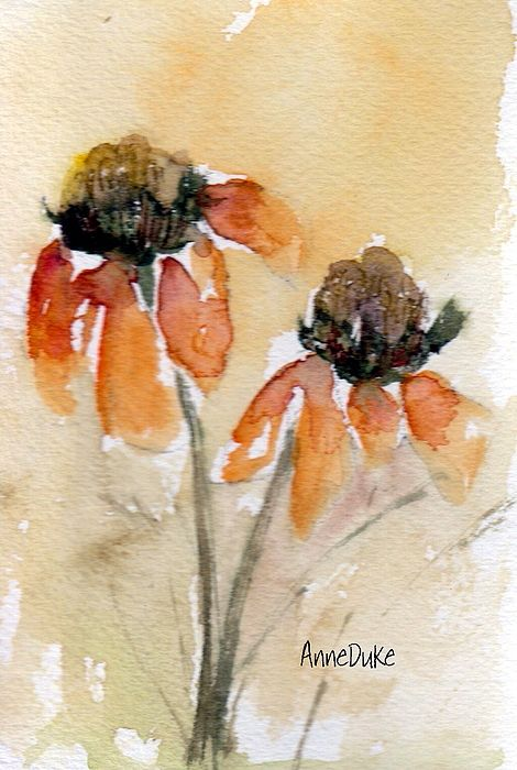 watercolor floral - love the loose approach, wish I could master it!
