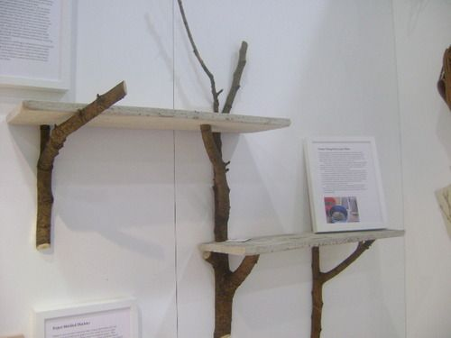 Branch shelves  LOVE this idea! I'd love to try it with reclaimed wood I find on the beaches around here!