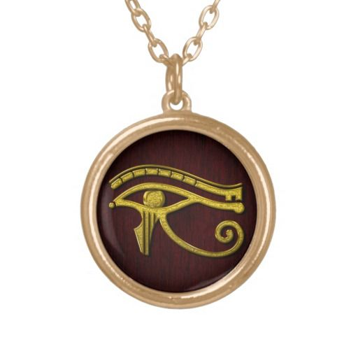 Eye of Horus Gold Color Personalized Necklace