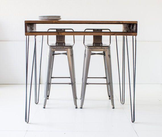 Bar Table 60x120cm Solid Wood High Tablecolor WALNUT