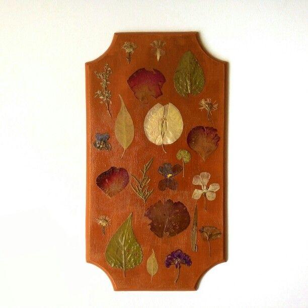 #ahşap #wood #design #painting #brown #pressedflowers