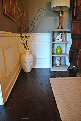 DIY Refinished Hardwood Floors. $200 to refinish kitchen, dining room, entryway, and hallway. ($0.33/sq ft) Rust-Oleum Ultimate Wood Stain in Kona dries in and hour!