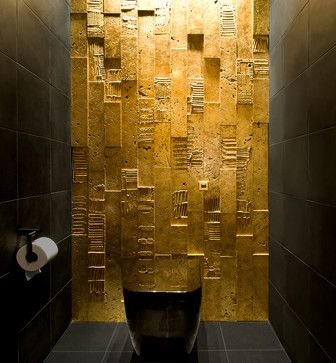 Powder Room Gold Leaf Design, Pictures, Remodel, Decor and Ideas - page 19