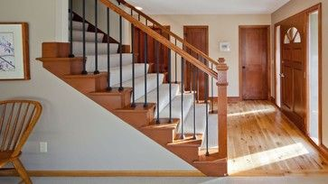 images of traditional simple open stairways | images of cherry railing design ideas pictures remodel and decor ...