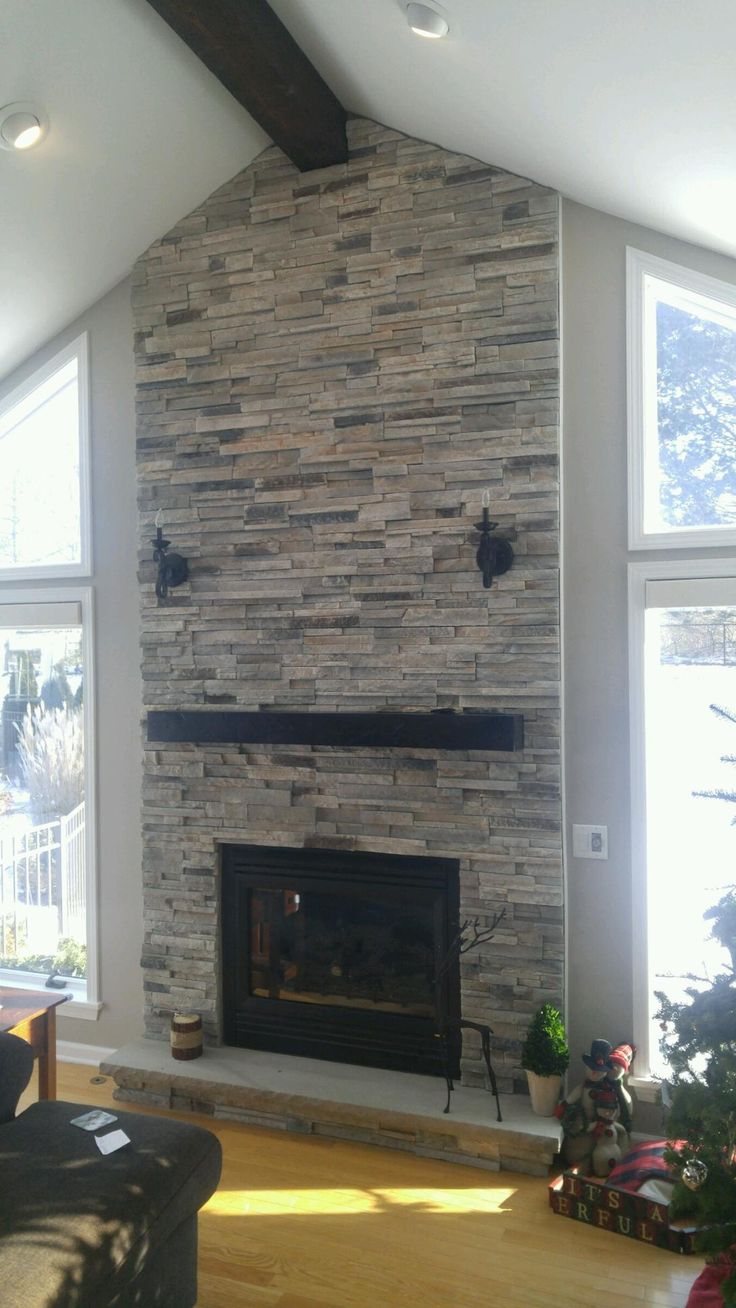 Boral Echo Ridge Alpine Ledgestone Fireplace Surround