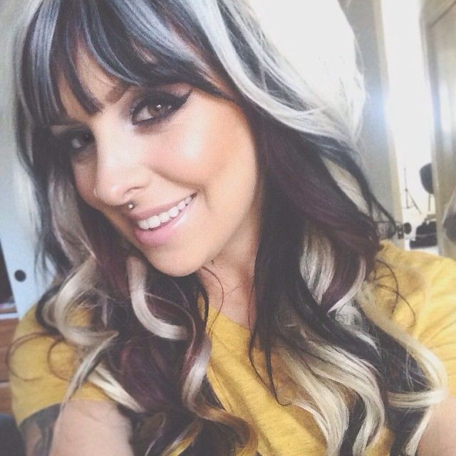 Platinum blonde with dark magenta a black under lowlights | new hair color | Pinterest | Blondes ...