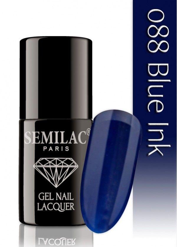 Semilac 088 Blue Ink UV&LED Nagellack. Auch ohne Nagelstudio bis zu 3 WOCHEN perfekte Nägel!