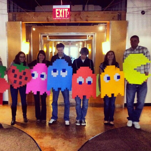 our media team group costume this year was #pacman