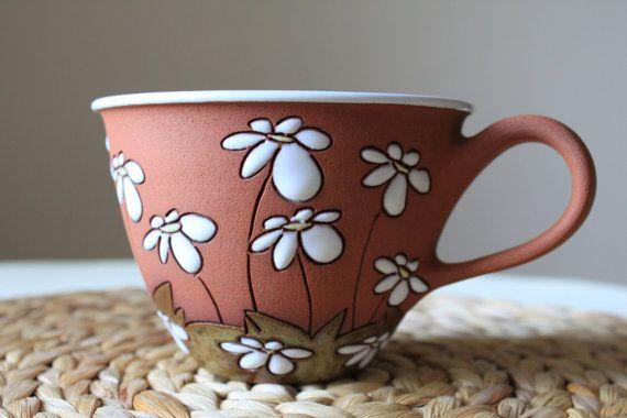 Taza de cappuccino Linda taza de con las por MugsAtFirstSight