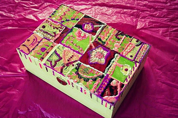 Boxes and more boxes, wooden painted boxes