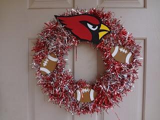 The Busy Broad: Football Team Wreath