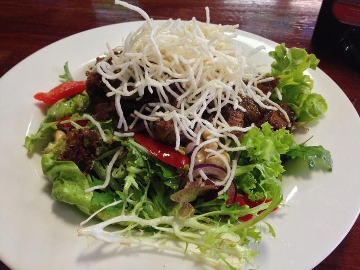 Thai beef salad at the Darling