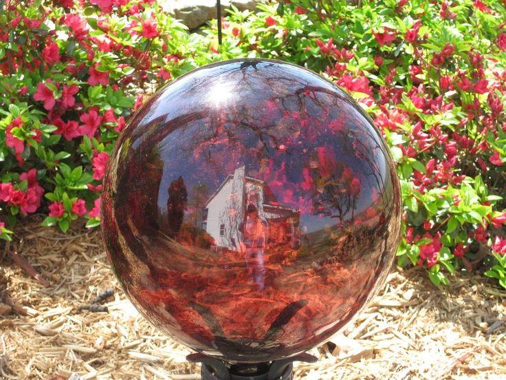 """Gazing Ball New Glass Globe 10"""" Purple Gazing ball"""