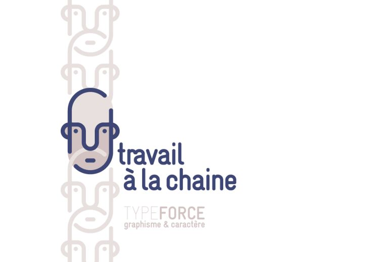 Logotype qui illustre un visage comme le maillon d'une chaine. - design by Typeforce - http://typeforce.org