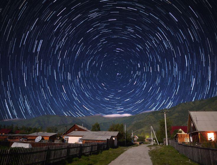 Звездное небо в горах. Россия. Усть Коксинский район.