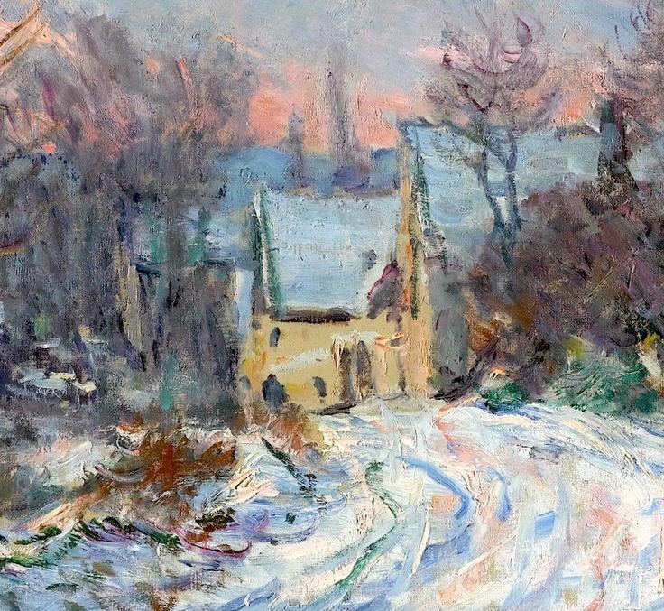 Claude Monet 1840-1926 - L'entrée De Giverny En Hiver (Detail)