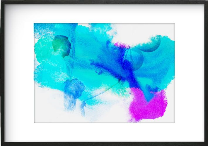 Watercolour Wash - Blue, Green and Purple  www.mynarrartive.com