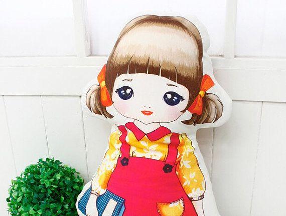 Free shipping pillows for girls doll girls decor от BeTheOriginal