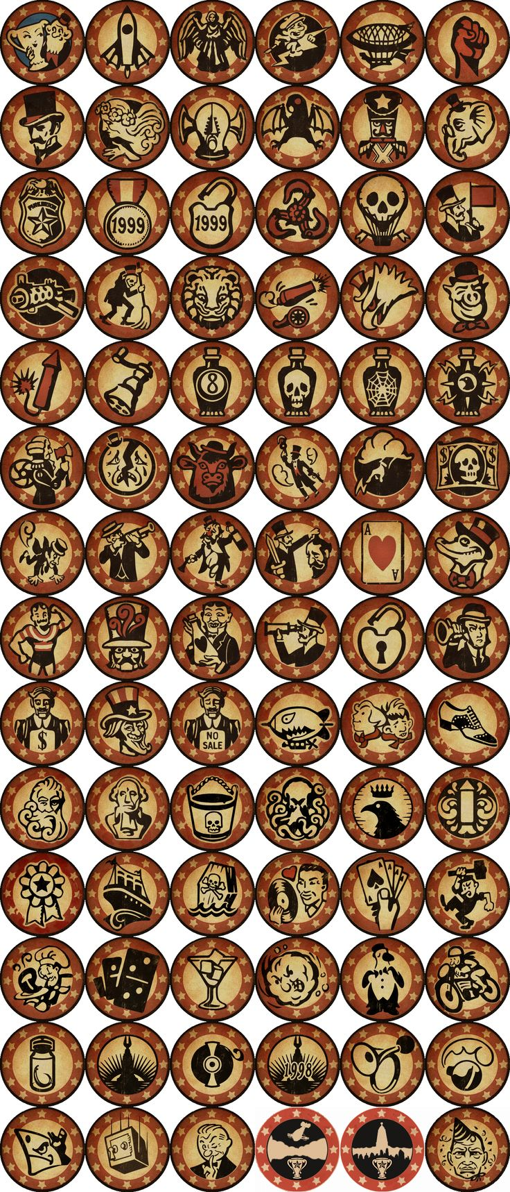 BIOSHOCK INFINITE 81 Trophies + 3 DLC Icons  Badges idea