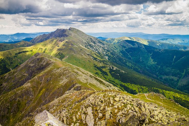 The main ridge of the Low Tatras mountains. I took this photo from the 2nd highest peak of the Low Tatras and in the distance you can see the highest peak.