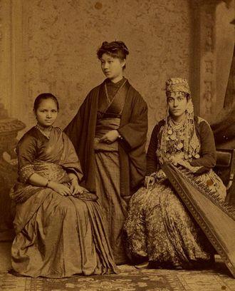 The first licensed female doctors in India, Syria and Japan. Anandibai Joshee (Indian), Kei Okami (Japanese), Sabat Islambooly (Kurdish Jew from Syria)