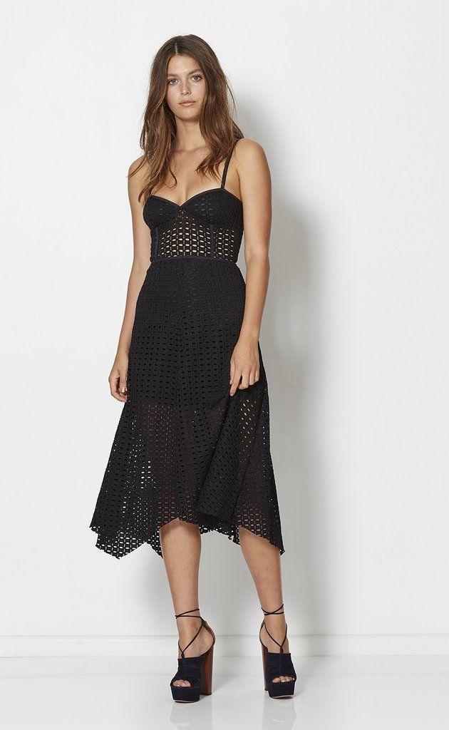 bec and bridge - Gypsy Laces Midi Dress Black