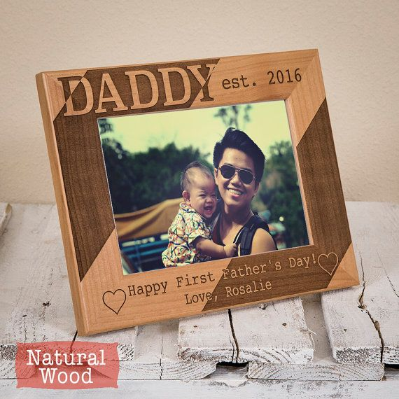 Personalized Dad Picture Frame - Happy First Fathers Day-Thoughtful Daddy Gift -Fathers Day Gift-First Father's Day