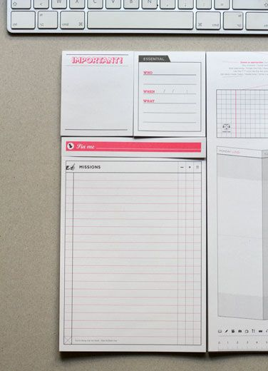 un sous-main de 5 blocs de papier, pour s'organiser comme un chef, pardonc, comme un manager