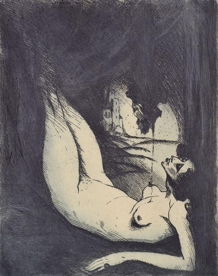 KONŮPEK Jan | Salome II | 1910, lept, papír, 436 × 340 mm